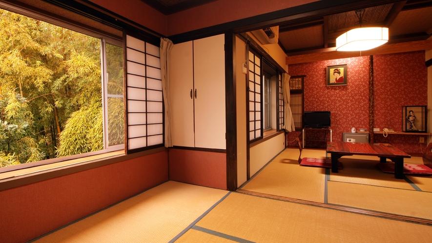 【あかね】10畳トイレ無し和室 踏込+次の間+10畳 民芸調の和室空間が特徴です