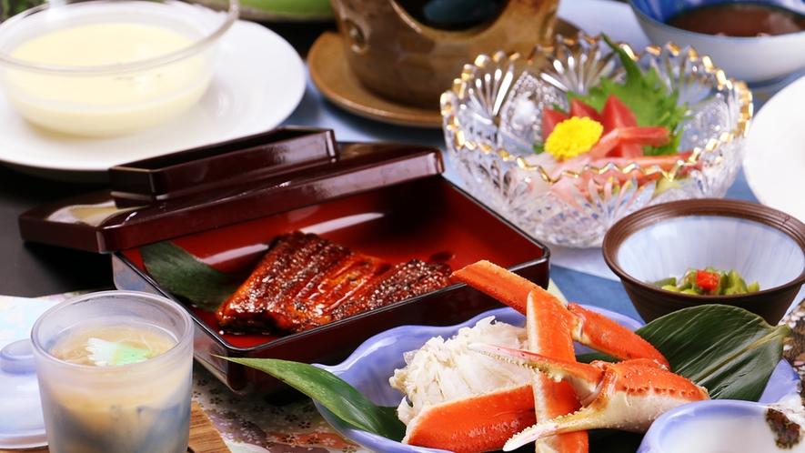 【コラボ-SUMMER】蟹に鰻に新鮮魚介にステーキ!!夏のコラボは贅沢三昧♪