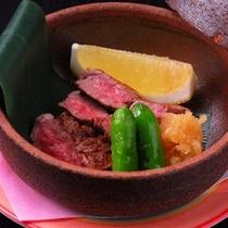 【夕食】和牛網焼き