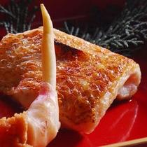 【夕食】ノドグロの塩焼き