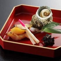 【夕食】きんき味噌漬け焼きとさざえの柔らか蒸し