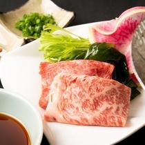 ブランド牛「村上牛」のしゃぶしゃぶを自家製ポン酢で召し上がれ♪< 佐渡ごっつぉ~SADO~ >