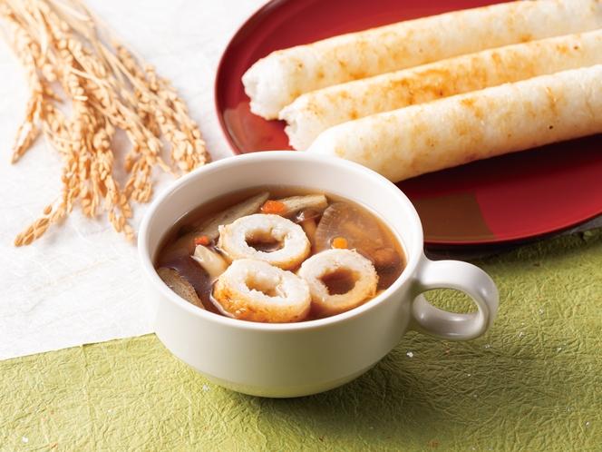 比内地鶏スープ(きりたんぽ入り)