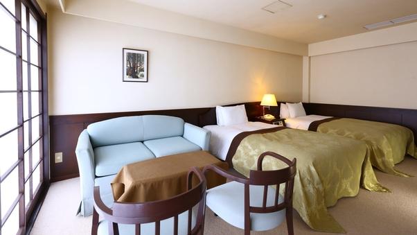ツインベッドルーム+和室8畳 寛ぎの和洋室/59平米【禁煙】