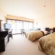ベッドルームのある和洋室