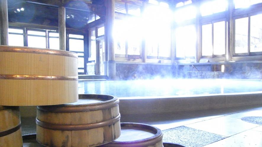 【桃山風呂】木桶の雰囲気が良いなぁ~