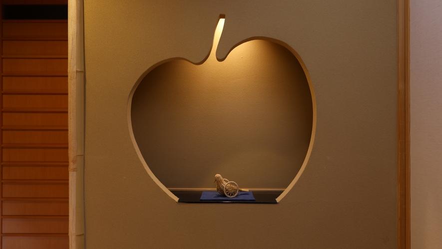 お部屋には、りんごモチーフの飾り棚/10+7畳