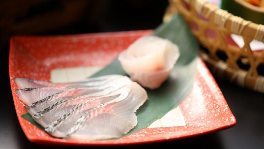 【彩 いろどり】信濃雪鱒のしゃぶしゃぶ。特製ポン酢ですっきりとした味わいです