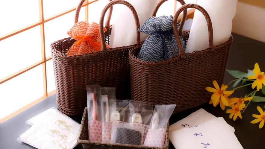 浴衣や湯足袋、その他アメニティを取り揃えております。