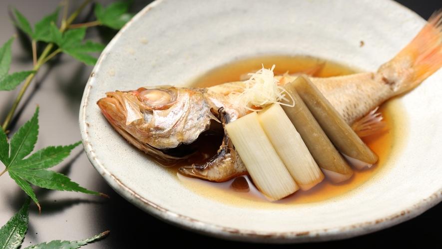 【みすず会席】新潟県産のどぐろ煮付け牛蒡 葱 繊生姜/季節の一例