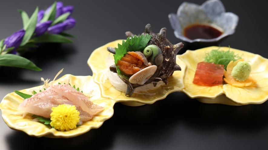 【みすず会席】お造り 新潟直送の地魚五味菜/季節の一例
