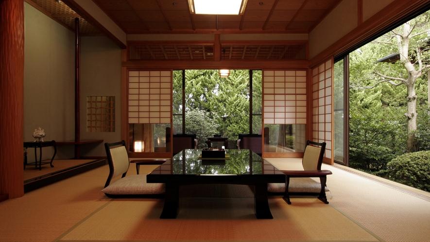 【翠月/桔梗】10畳+4畳の純和風のお部屋です。