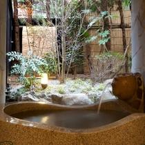[山茶亭/桐]和室10畳・くりぬきの石風呂