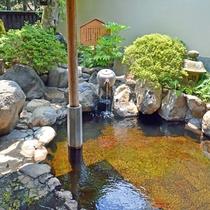 お茶露天風呂【華の湯】 日本三大美肌の湯を堪能