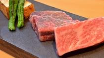 【鉄板焼き「えん」】佐賀牛ロースとヒレの食べ比べ~ロースは炭でヒレは鉄板で(画像は2人盛)