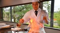 【鉄板焼き「えん」】音と香り、料理人との会話を交え極上の料理をご堪能いただけます