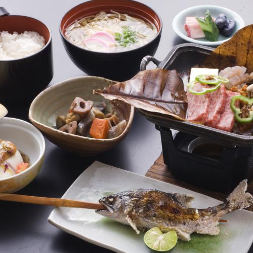 昼食料理 陶板焼き