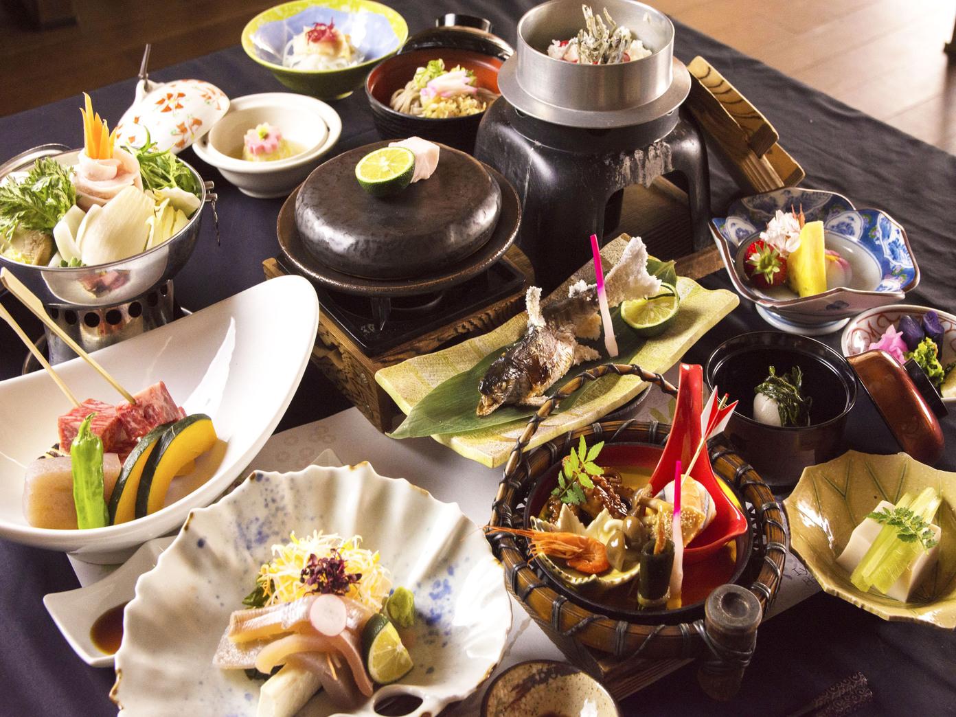 秘境祖谷の四季を旬食材で贅沢に愉しむ「極」会席