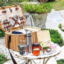 <ブレックファースト>自慢のガーデンでバスケットを広げて楽しい朝食タイムをどうぞ。