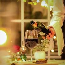 フレンチとワインのマリアージュをお楽しみください。