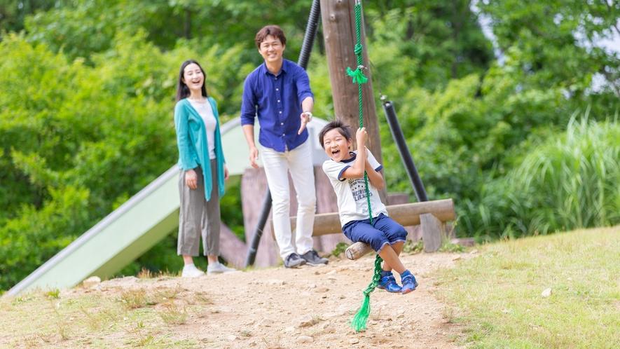 Greenシーズン『湯沢高原アルプの里』ごろね広場の遊具