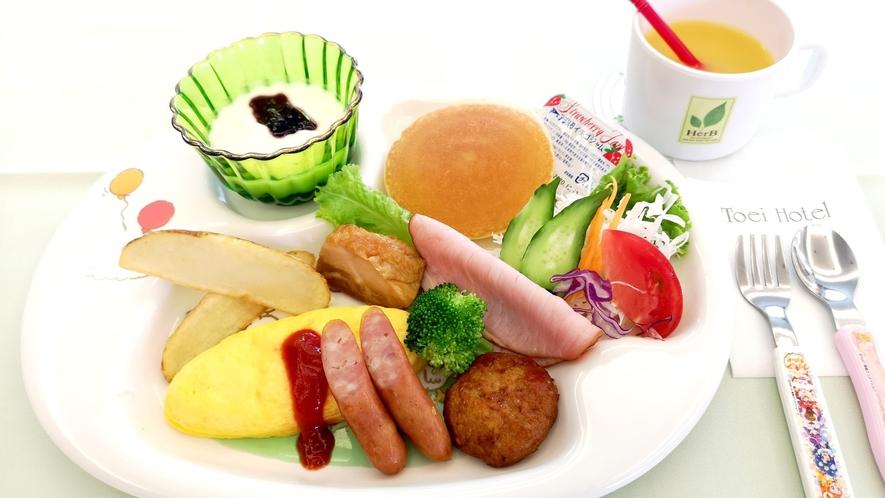 お子様ランチ 朝食メニュー(一例)