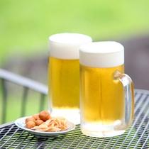 生ビールとプチおつまみ