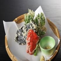 お料理 天ぷら盛り合わせ一例