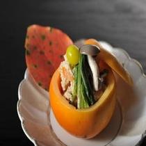 お料理一例  白和え(柿)