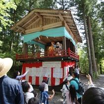 徒歩10分の浅間神社春祭りにて