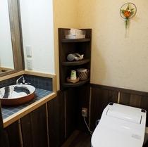 10畳和室の洗面付きトイレ