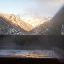 冬の眺め 高濃度水素風呂より