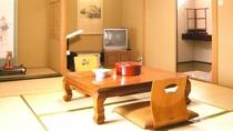 *客室一例/シンプル&クリーンな落ち着いた純和風のお部屋です。