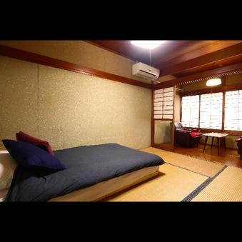 シングル和室ベッドルーム◆シモンズ製マットレス◆6畳広縁付