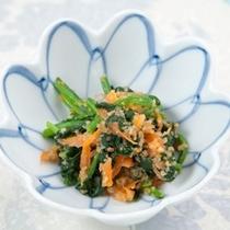 (夕食)ホウレン草のピ-ナッツ和え