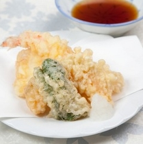 (夕食)天ぷら盛り合わせ
