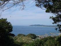 自然村散策コースから望む景色