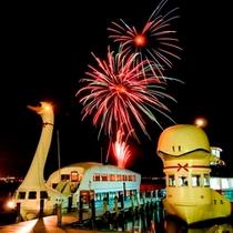 夏の諏訪湖は毎日花火♪納涼船ナイトクルーズ(出航20:20-) ※除外8月15日