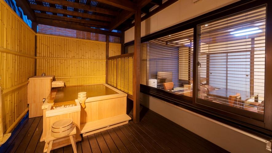 当館に1室だけの【かけ流し半露天風呂付:和室10畳】