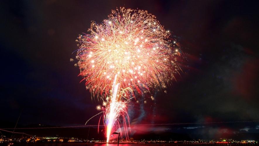 【諏訪湖の花火】