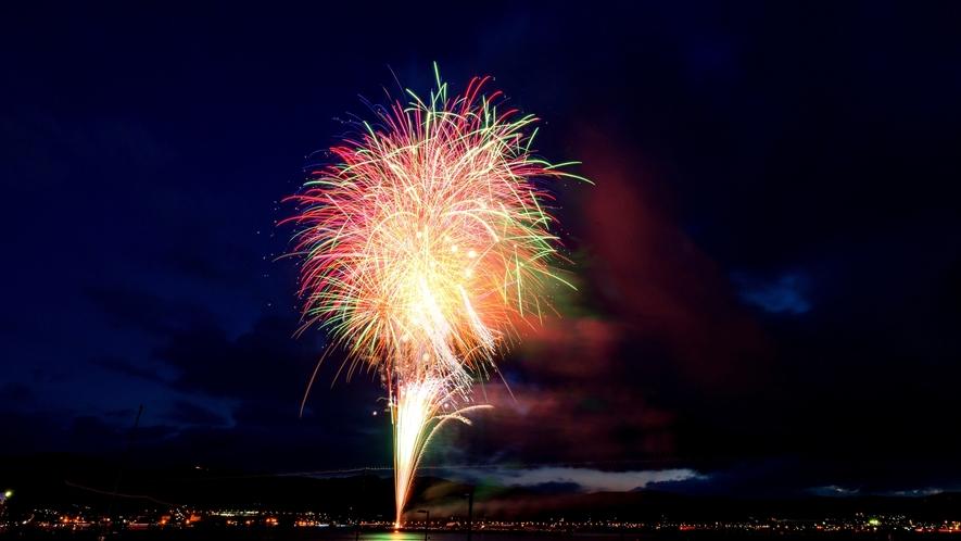夏の諏訪湖◎花火