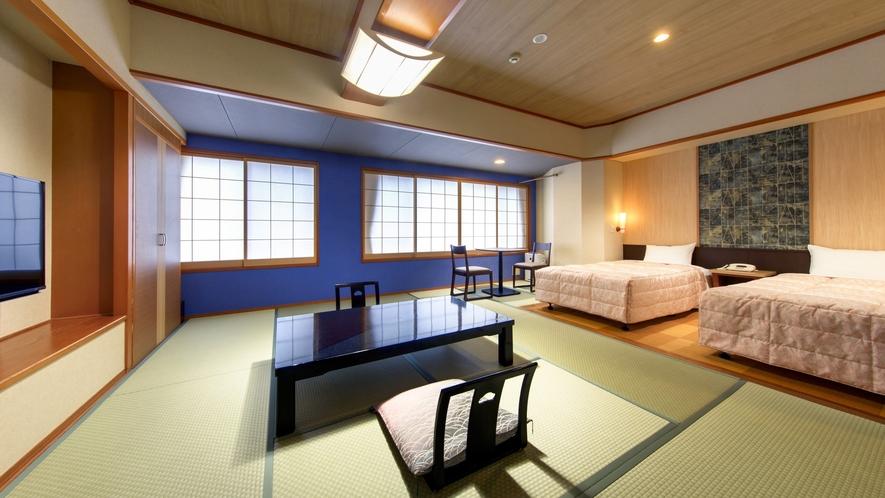 【和洋室(10畳+ベッド:ツイン)】≪2019年リニューアル≫バリアフリー・ユニバーサルデザイン