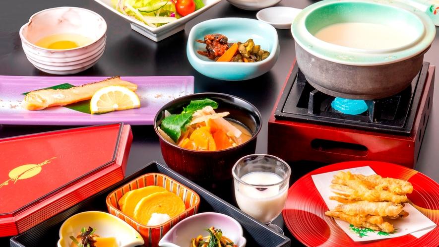 朝食(イメージ)【和定食】 手作り豆腐や信州味噌と具だくさんのお味噌汁 など