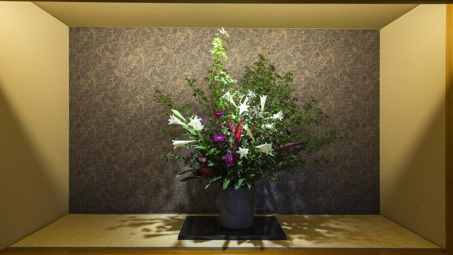 フロントロビー 季節のお花