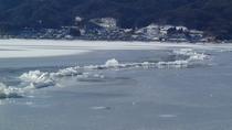 平成30年(2018年)諏訪湖【御神渡り】(撮影:2月7日:諏訪湖温泉旅館組合)