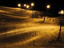 冬:ナイター(忠類スキー場)