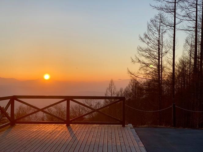 横谷観音展望台からの夕日