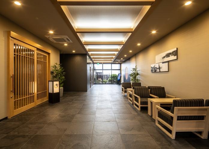 東館 1F レストラン会場  『和み』前パブリックスペース。