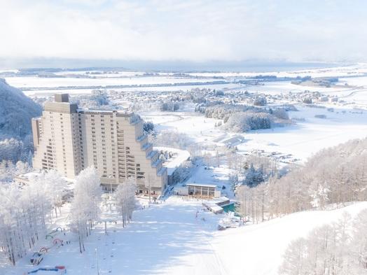 【手ぶらでスキー】滞在中のレンタルが付いた人気のレンタルパック!1泊2食バイキングプラン☆