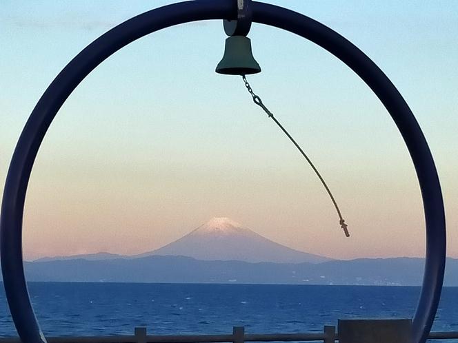 朝焼けの富士山1